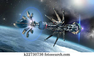 Spaceship with forming Warp Drive