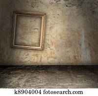 Bare Room With Crooked Picture Frame