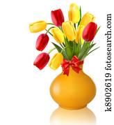 frühjahrsblumen, in, a, blumenvase
