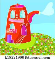 Teapot Clip Art And Illustration 17 430 Teapot Clipart