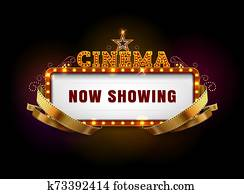 theater, kino, zeichen