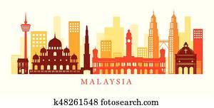 Malaysia Architecture Landmarks Skyline, Shape