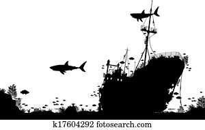 Shipwreck reef