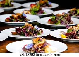 Wedding preparation and food service