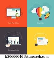 flache, webentwicklung, internet, busin