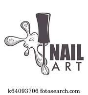 Nail art spa salon making new manicure for women