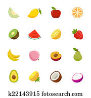 Set of Fruit Icon.