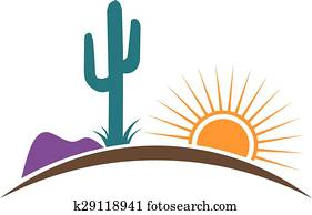 Arizona desert logo