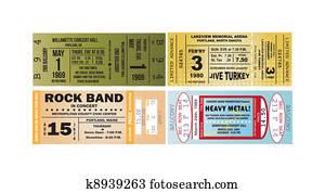 Concert Ticket Vectors