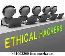 Ethical Hacker Tracking Server Vulnerability 3d Rendering