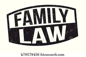 Family law sign or stamp
