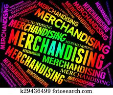 Merchandising Word Represents Vending Promotion And Trading