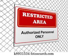 Restricted area notice