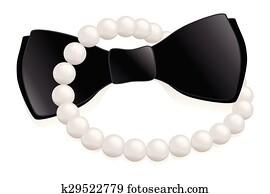 Pearls and bow tie