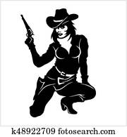 Pin Up Girl, Sexy Cowgirl