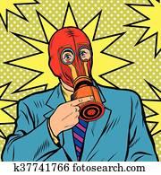 Gas mask, vintage rubber
