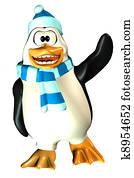 Male Penguin Waving