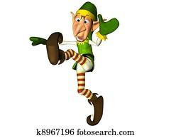Jumping Christmas Elf