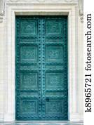 Pantheon doors in Paris