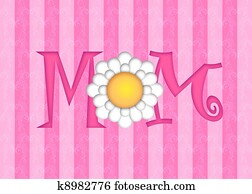 Happy Mothers Day with Daisy Flower