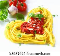 Heart-shaped Pasta And Tomato