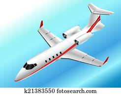 Isometric Learjet 60