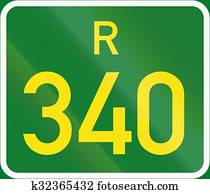 South Africa Provincial Route shield - R45 Stock Illustration
