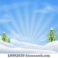 weihnachten, schneelandschaft, hintergrund