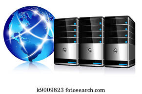 Servers and communication Internet