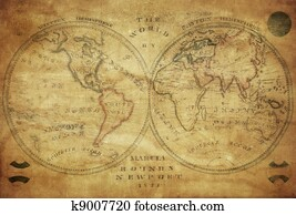 Old world map stock photo images 18304 old world map royalty free vintage map of the world 1833 gumiabroncs Choice Image