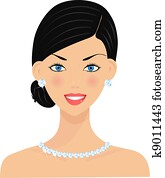 Beautiful woman with diamonds