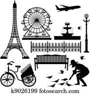 Paris Eiffel Tower Ferris Wheel