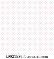 Seamless Pastel Pink Dots on White