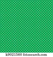 Seamless Polka Dots, Bright Green