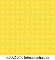 Seamless Polka Dots, Bright Yellow