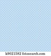 Seamless Polka Dots on Pastel Blue