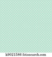 Seamless Polka Dots on Pastel Green