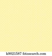 Seamless Polka Dots, Pastel Yellow