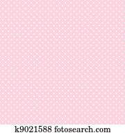 seamless, polkamuster, auf, pastell, rosa