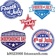 Vintage Fourth of July Stamps