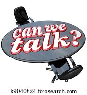 Can We Talk Conference Table Two Chairs Communication