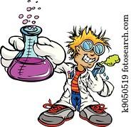 Kid Scientist Inventor Boy