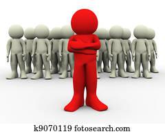 3d red leader