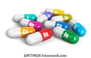 Color vitamin pills