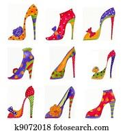 Fashion shoes pattern