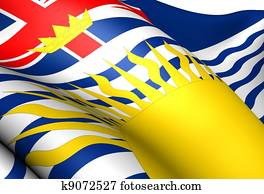 Flag of British Columbia, Canada.