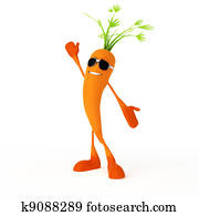 Food character - carrot