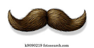 Moustache On White Background
