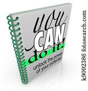 Self-Help You Can Do It Book Positive Attitude Confidence