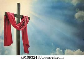 cross on white background